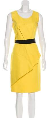 Jenni Kayne Scoop Neck Knee-Length Dress Yellow Scoop Neck Knee-Length Dress