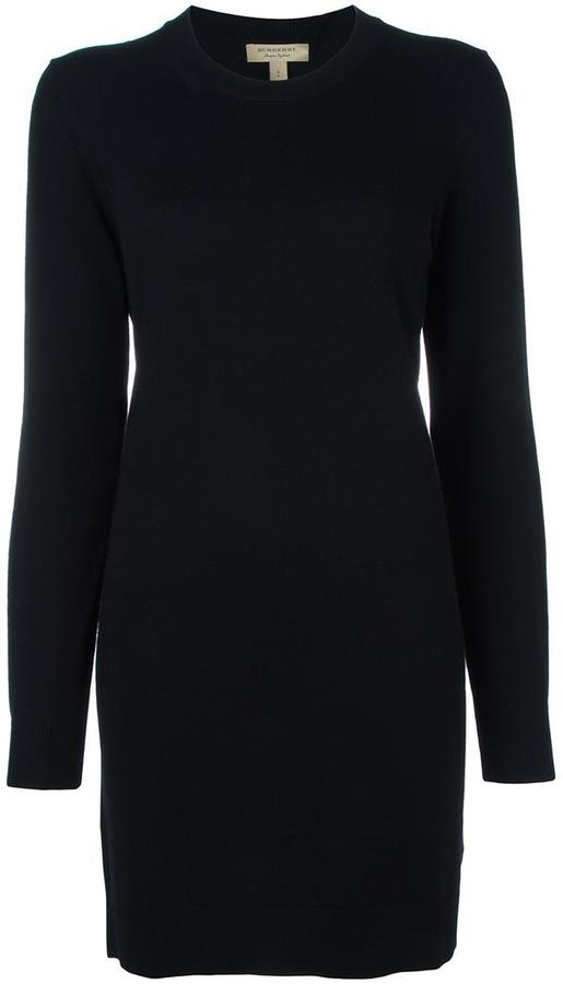 Burberry elbows patch knitted dress