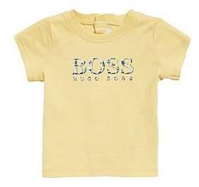 HUGO BOSS Baby logo T-shirt in pure cotton jersey