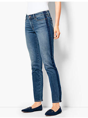 Talbots Slim Ankle Jeans - Shadow Stripe