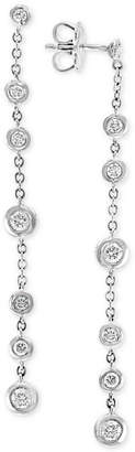 Effy Diamond Bezel Linear Drop Earrings (3/4 ct. t.w.) in 14k White Gold