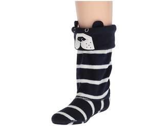 Joules Kids Smile Fleece Welly Sock (Toddler/Little Kid/Big Kid)