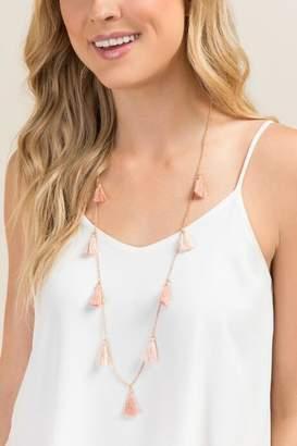 francesca's Heather Mini Tassel Necklace - Lavender