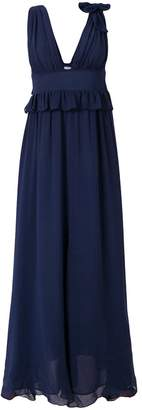 Pinko ruffle trim maxi dress