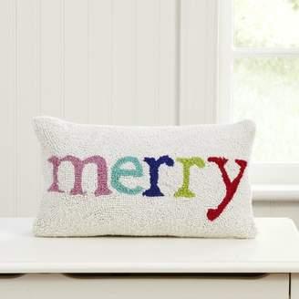 Birch Lane Kids Merry & White Hooked Lumbar Pillow