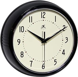 Infinity Instruments Retro Round Metal Wall Clock