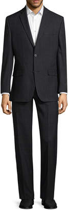 Andrew Marc Marc By Tiled Notch Lapel Suit