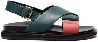 Marni Fussbett crossover-strap leather sandals