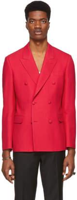 Alexander McQueen Red Wool and Silk Blazer
