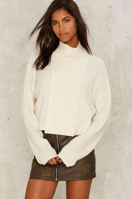 JOA J.O.A. Billy Turtleneck Sweater - White