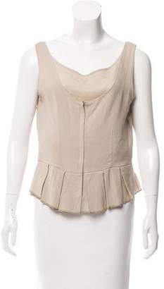 Hache Sleeveless Virgin Wool Top