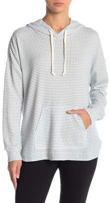 MELLODAY Patterned Dolman Sleeve Pullover Hoodie