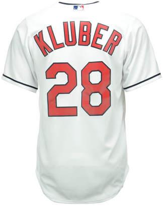 Majestic Men Corey Kluber Cleveland Indians Replica Jersey