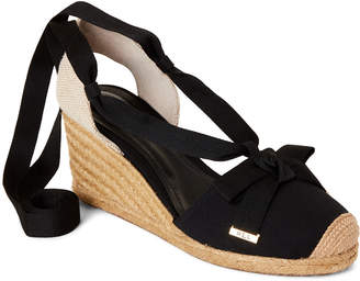 5999ae4866 Lauren Ralph Lauren Black Hollie Ankle-Wrap Wedge Espadrilles