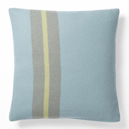 west elm Faribault Wool Pillow Cover - One-Sided Stripe