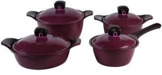 PN Poong Nyun Poong Nyun L Cook 8-Piece Ceramic Pot Set, Purple