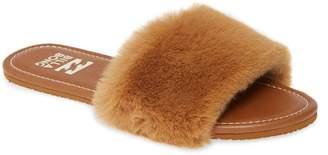 Billabong Furocious Faux Fur Slide Sandal