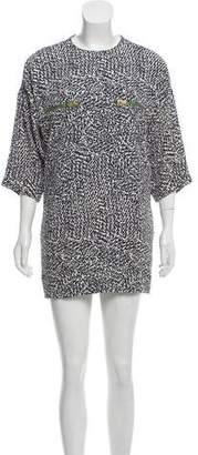 Celine Silk Patterned Mini Dress