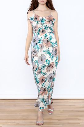 Everly Painted Flower Maxi Dress $88 thestylecure.com