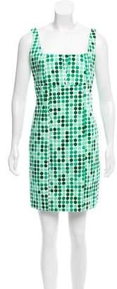 Calvin Klein Sleeveless Polka Dot Dress