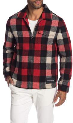 Calvin Klein Mackinaw Harrington Plaid Jacket