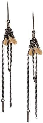 Ann Demeulemeester chain drop earrings