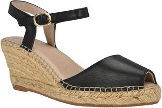 A.N.A Andrew Stevens Wedge Espadrille Sandals