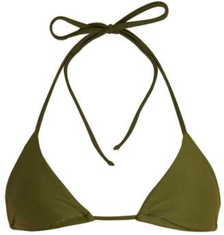 Matteau - The String Triangle Bikini Top - Womens - Khaki