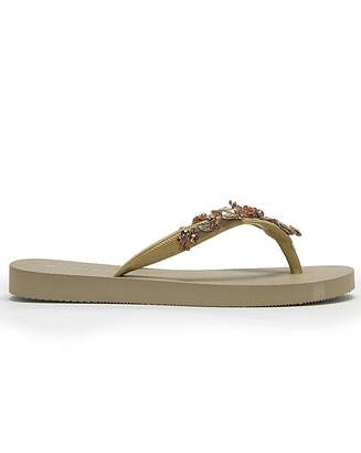 Daniel Footwear Daniel Erora Pearl Embellish Flip Flops