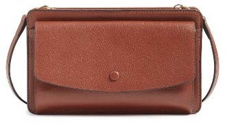 Halogen Convertible Leather Crossbody Bag - Brown $89 thestylecure.com