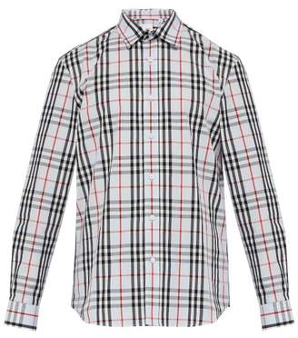 Burberry Vintage Check Shirt - Mens - Blue