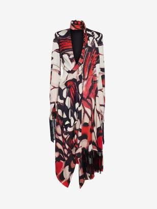 Alexander McQueen Painted Lady Butterfly Scarf Dress