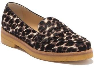 Longchamp Le Pliage Genuine Calf Hair Penny Slip Loafer