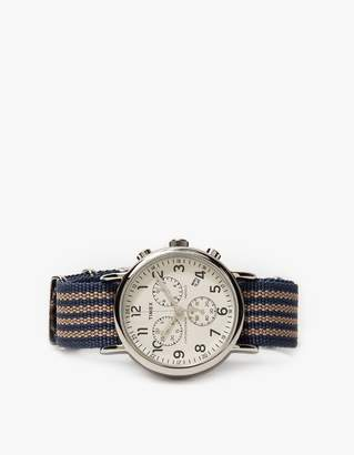 Timex Archive Weekender Chrono in Steel/Cream