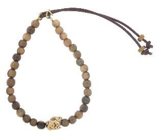 Catherine Michiels Brown Ebony Stardust Bracelet with Usagi in Bronze