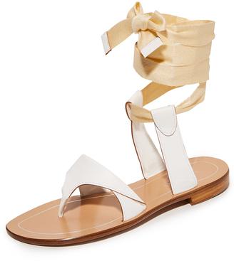 Sarah Flint Grear Lace Up Sandals $525 thestylecure.com