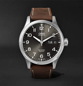 Oris Big Crown ProPilot Day-Date Automatic 45mm Stainless Steel and Suede Watch