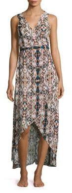 Tropez Sleeveless Hi-Lo Wrap Dress $159 thestylecure.com