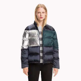 Tommy Hilfiger Metallic Colorblock Down Puffer