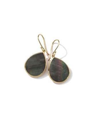Ippolita 18k Polished Rock Candy Mini Teardrop Earrings in Black Shell