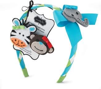 Mud Pie Baby Girl Safari Snap Ribbon Headband Set 352192