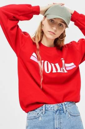Topshop TALL 'Voila' Motif Sweatshirt