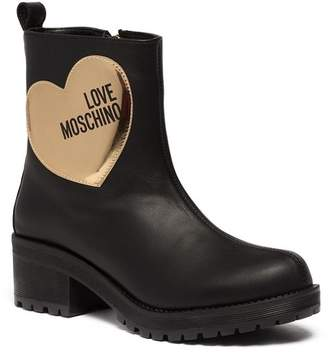 Love Moschino Heart Applique Platform Bootie