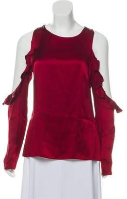 Cushnie et Ochs Silk Cold-Shoulder Top w/ Tags