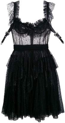DSQUARED2 sheer frill-trim dress