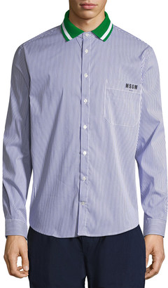 MSGM Striped Collar Sport Shirt