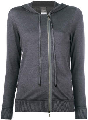 Lorena Antoniazzi hooded zip cardigan