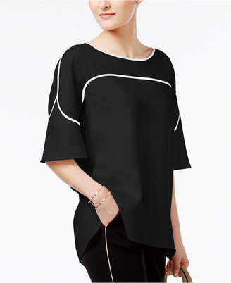 Alfani Prima Flutter-Sleeve Piped Blouse, Only at Macy's $69.50 thestylecure.com