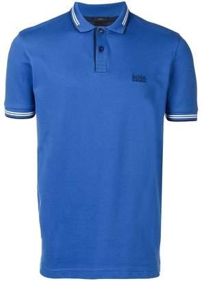 HUGO BOSS embroidered logo polo shirt