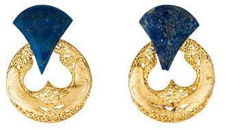 Stephen Dweck Lapis Convertible Clip-On Earrings